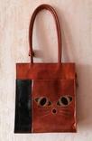 Кожаная сумка с изображением Кота, фото №3