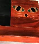 Кожаная сумка с изображением Кота, фото №5