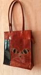 Кожаная сумка с изображением Кота, фото №7