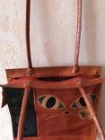 Кожаная сумка с изображением Кота, фото №11
