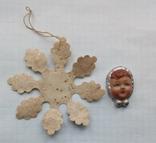 Елочная игрушка Снежинка папье -маше  1960г., фото №4