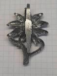 Реплика Эдельвейс горных стрелков Вермахта, Германия, рейх, значок, кокарда, фото №8