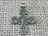 Крестик нательный с крестообразными медальонами (реплика), фото №3
