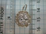 Новый Серебряный Кулон Подвеска Крупный Фианит Кластер Серебро 925 проба 136, фото №5