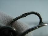 Серебряный Кулон Подвеска Сова Крылья Глаза Зеленые Камни Серебро 925 проба 267 фото 5