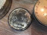 Баночки жестяные СССР + картонная упаковка кнопок, фото №11