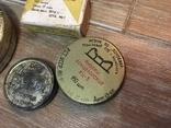 Баночки жестяные СССР + картонная упаковка кнопок, фото №12