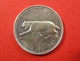 Канада 25 центів 1967, фото №2