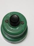 Кнопка, електро пускач (пускатель) з бакеліту (СССР), фото №12