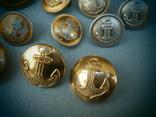 Пуговицы ВМФ СССР 1960-е годы - 14 шт., фото №5
