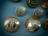 Пуговицы ВМФ СССР 1960-е годы - 14 шт., фото №6