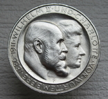 """Вюртемберг 3 марки 1911 г., """"Серебряная свадьба Вильгельма и Шарлотты"""", фото №3"""