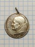 Медальйон: Папа Римський Іван Павло ІІ, срібло., фото №2