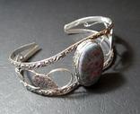 Рубиновый фуксит браслет манжет, фото №3