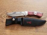 НОЖ охотничий COLUNBIR SB70 (рукоять-дерево) тканевые ножны / 22 см / АК-223, фото №2