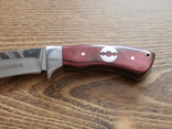 НОЖ охотничий COLUNBIR SB70 (рукоять-дерево) тканевые ножны / 22 см / АК-223, фото №4