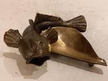 Нимор. Бронзовая статуэтка, пепельница - Морской бычок - бронза, латунь.., фото №2