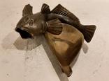 Нимор. Бронзовая статуэтка, пепельница - Морской бычок - бронза, латунь.., фото №4
