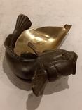 Нимор. Бронзовая статуэтка, пепельница - Морской бычок - бронза, латунь.., фото №8