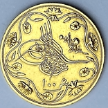 100 пиастров. Османский Египет. Abdul Hamid II 1293/12 AH  1876. (вес 8,49 г), фото №4