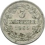 Германия Бавария 3 крейцера 1865 г, фото №2