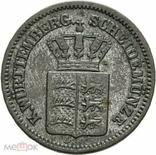 Германия Вюртемберг 1 крейцер 1870 г, фото №3