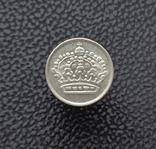 Швеция 10 эре 1955 серебро, фото №3