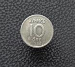 Швеция 10 эре 1956 серебро, фото №2