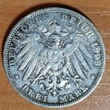 Баден, 3 марки,1909 г., фото №3