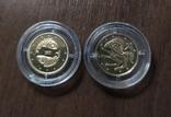 2 гривны.Зодиак 2 шт. Золото (1)., фото №3