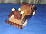 Ретроавтомобиль деревянный, фото №2