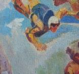 "В.Кнышевский""Над облаками"", х.м.44*54см,1980, фото №8"