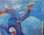 "В.Кнышевский""Над облаками"", х.м.44*54см,1980, фото №9"