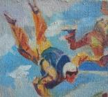 "В.Кнышевский""Над облаками"", х.м.44*54см,1980, фото №11"