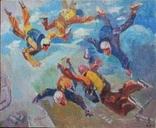 "В.Кнышевский""Над облаками"", х.м.44*54см,1980, фото №2"