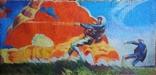 """В.Кнышевский""""Парашютисты"""", х.м.60*123см,1982г, фото №2"""