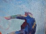 """В.Кнышевский""""Парашютисты"""", х.м.60*123см,1982г, фото №4"""
