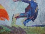 """В.Кнышевский""""Парашютисты"""", х.м.60*123см,1982г, фото №10"""