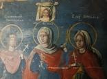 Икона. Св.Екатерина, Св.Мч.Ирина, Св.Муч.Наталия., фото №13