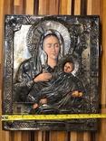 Икона в серебрянном окладе, фото №2