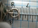 Серебряный Кулон Подвеска Бахрома Зернь Эмаль Необычный Колокольчик Серебро 345, фото №9