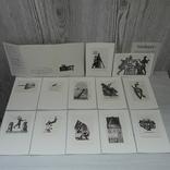 Книжные знаки Кравцова 12 экслибрисов 1968, фото №2