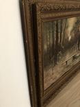 Старая картина,  масло, фото №5