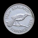 6 Пенсів / Пенсов 1934, Нова Зеландія / Новая Зеландия, фото №3