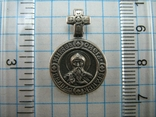 Серебряный Кулон Подвеска Образок Святой Князь Олег Ангел Хранитель Серебро 925 проба 851, фото №4