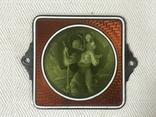 Старая икона с эмалью, фото №2