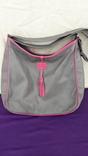Сіра шкіряна сумка, фото №2