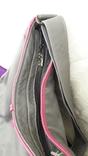 Сіра шкіряна сумка, фото №5
