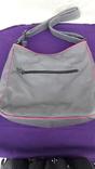 Сіра шкіряна сумка, фото №11