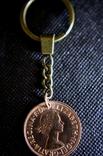 Брелок з монетки 1 Penny 1967 року, фото №2